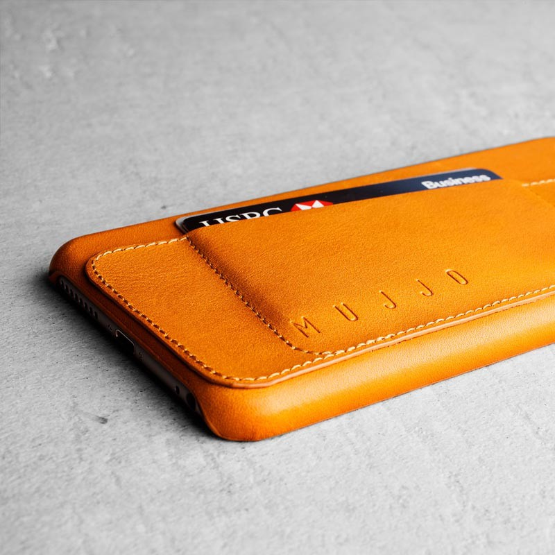 Mujjo Leather Wallet Case 80 iPhone 6 Tan - 4