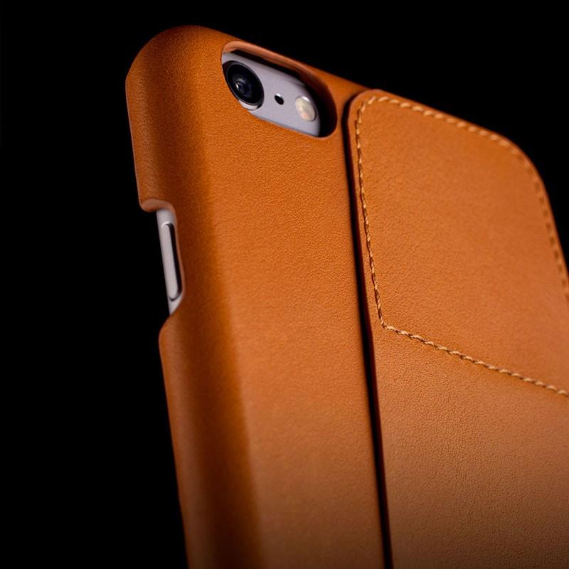 Mujjo Leather Wallet Case 80 iPhone 6 Tan - 6