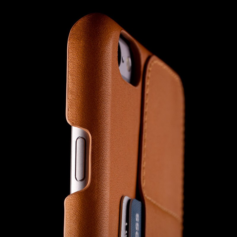 Mujjo Leather Wallet Case 80 iPhone 6 Tan - 8