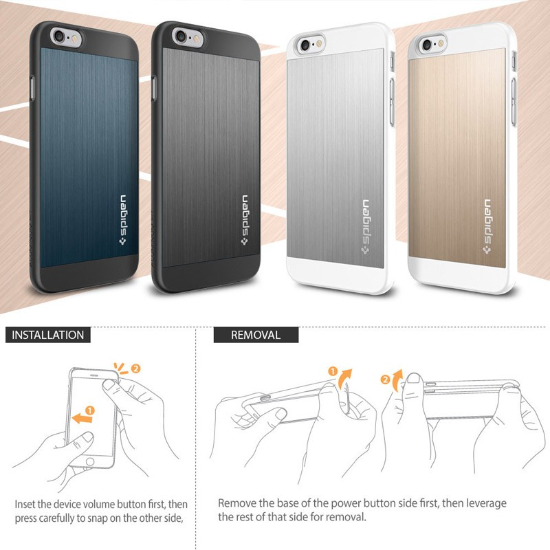 Spigen Aluminium Fit iPhone 6 Champagne - 5