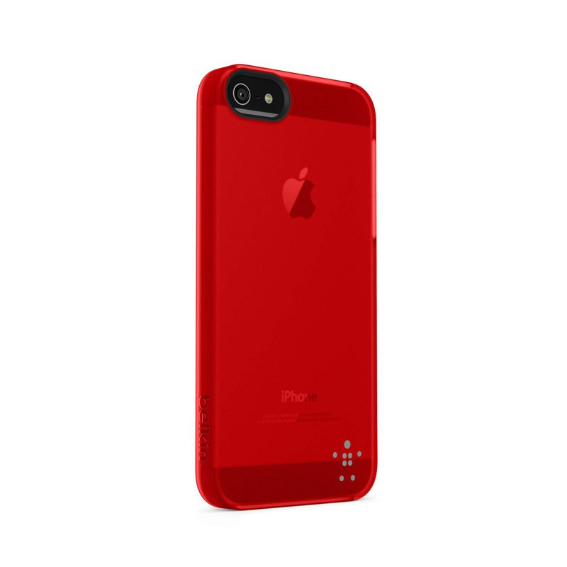 Belkin Shield Sheer Matte iPhone 5 (Red) 01