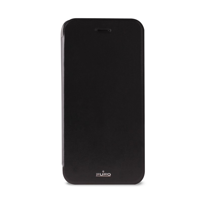 Puro - Eco Leather Wallet iPhone 6 Black - 1