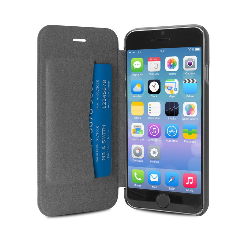 Puro - Eco Leather Wallet iPhone 6 Black - 3