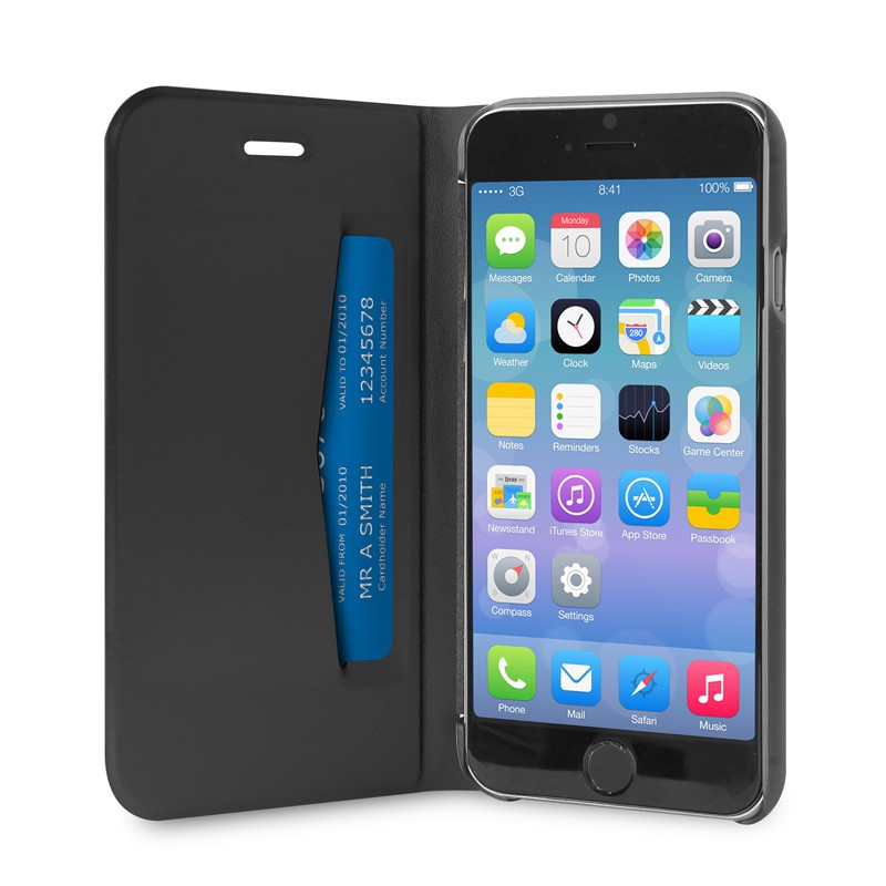 Puro Eco Leather Wallet iPhone 6 Black - 3