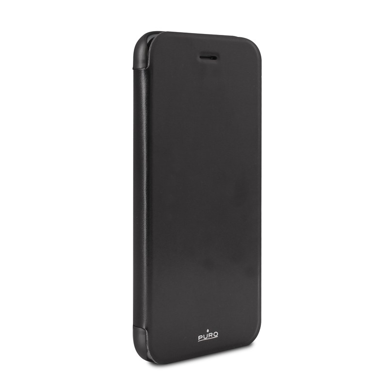 Puro - Eco Leather Wallet iPhone 6 Plus Black - 4