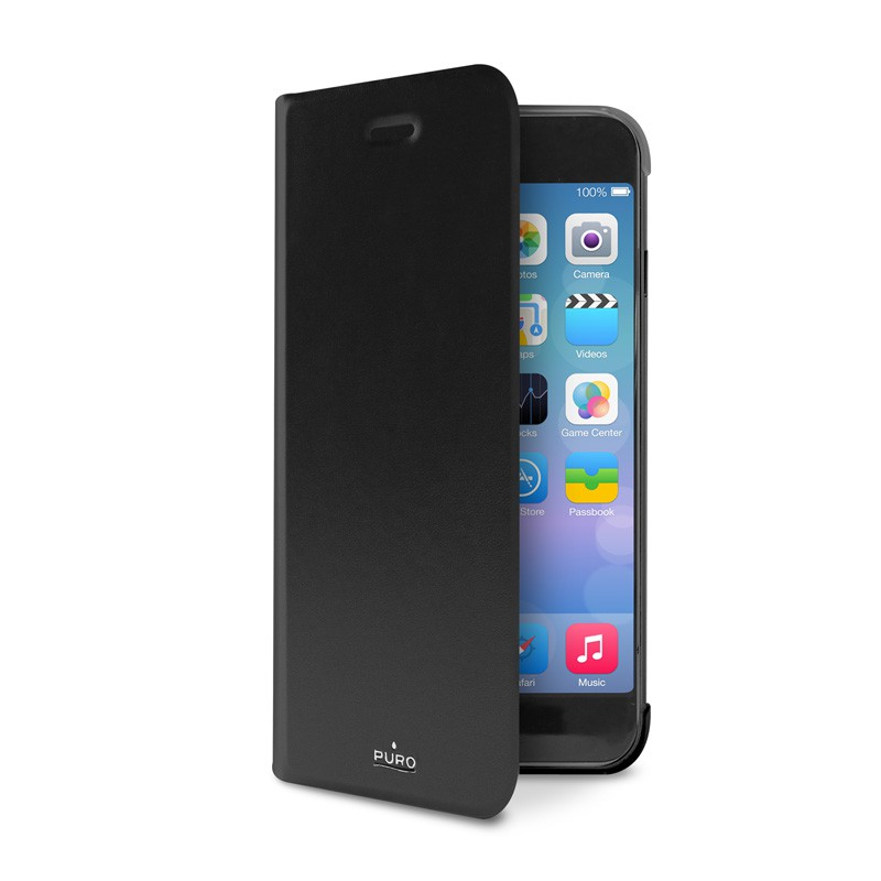 Puro Eco Leather Wallet iPhone 6 Black - 4