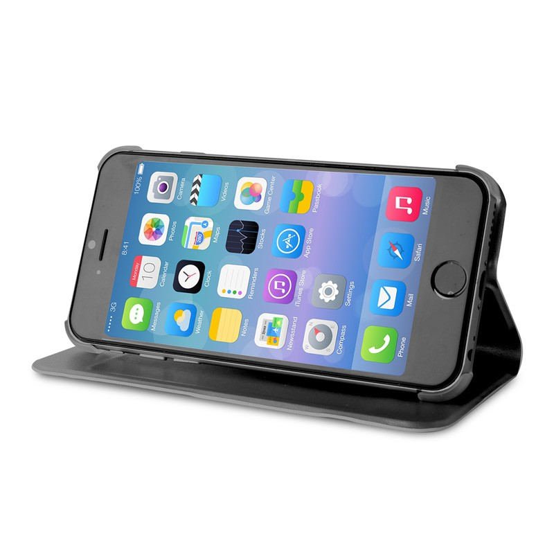 Puro Eco Leather Wallet iPhone 6 Black - 7