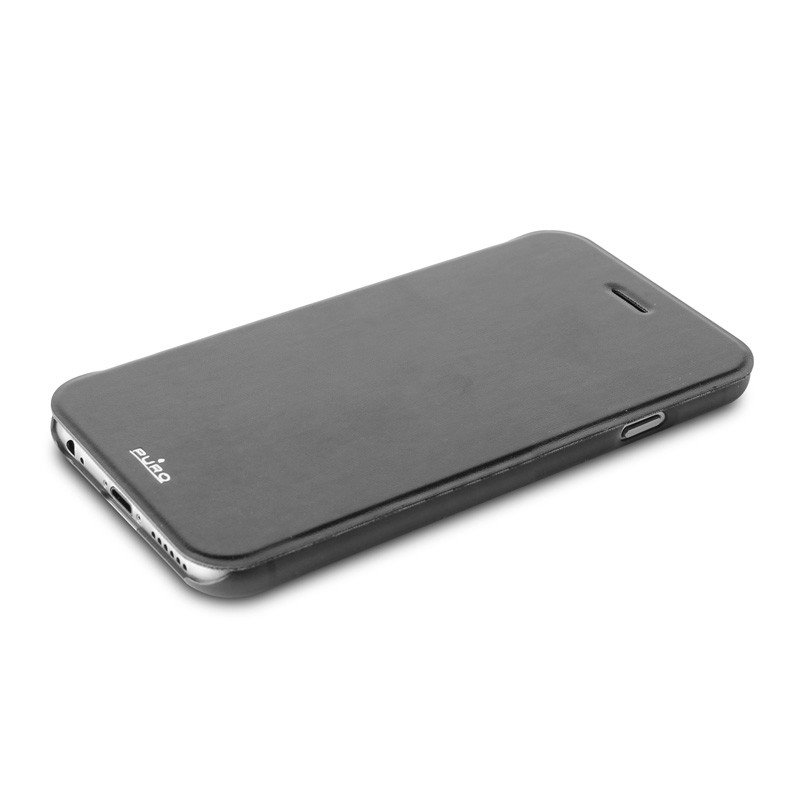 Puro - Eco Leather Wallet iPhone 6 Plus Black - 6
