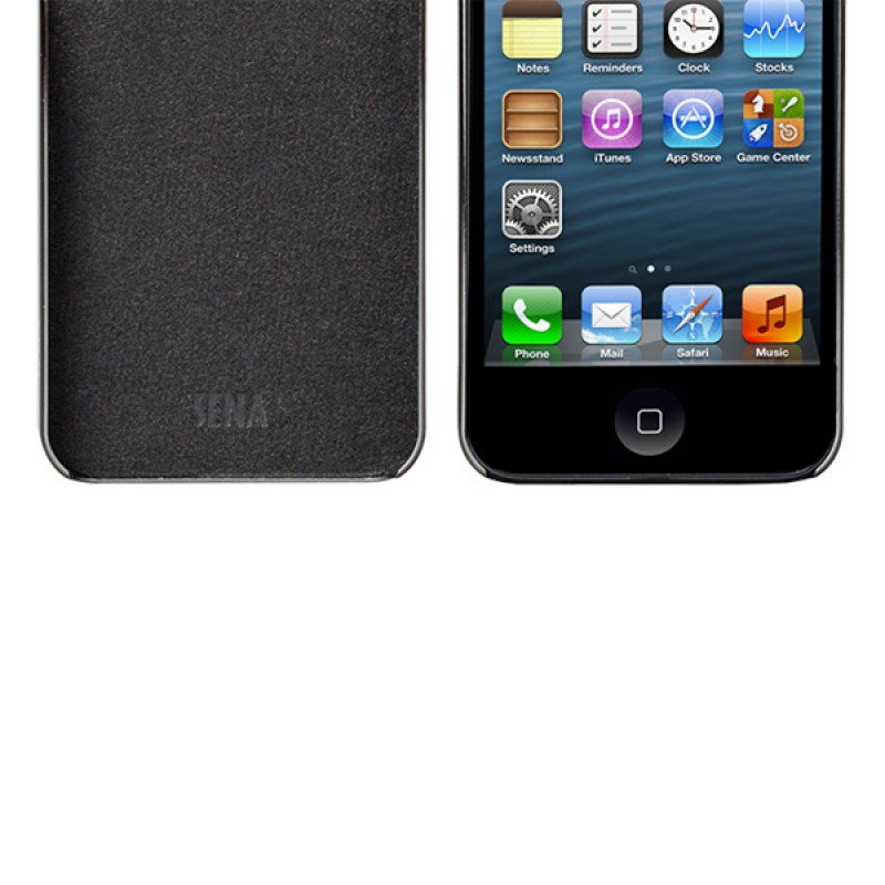 Sena Ultra Thin Snap On iPhone 5/5S Black/Gunmetal - 3