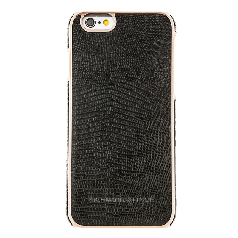 Richmond & Finch Framed Rosé iPhone 6 / 6S Black Reptile - 1