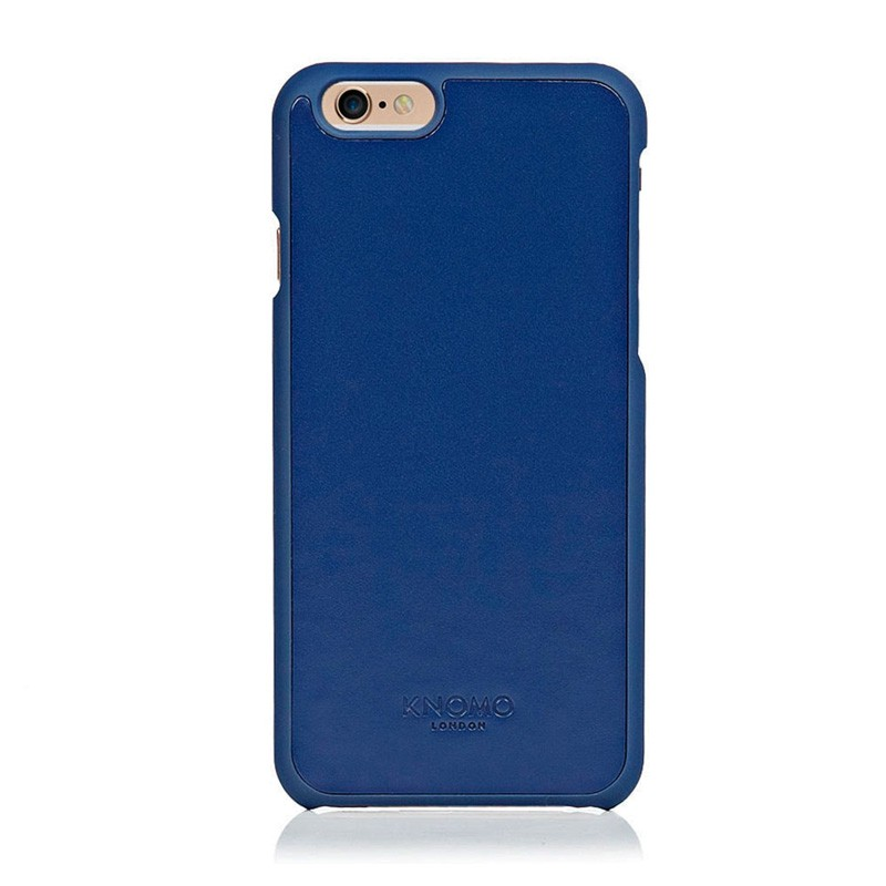 Knomo Leather Snap Case iPhone 6 Blue - 1