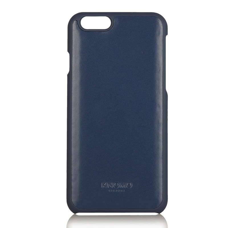 Knomo Leather Snap Case iPhone 6 Blue - 2