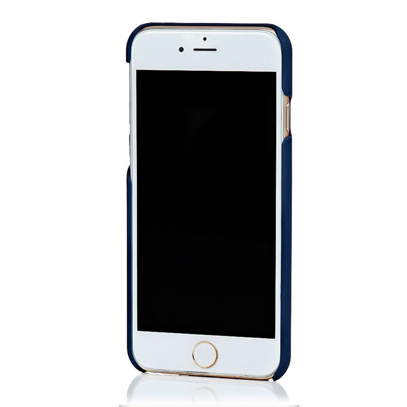 Knomo Leather Snap Case iPhone 6 Blue - 3