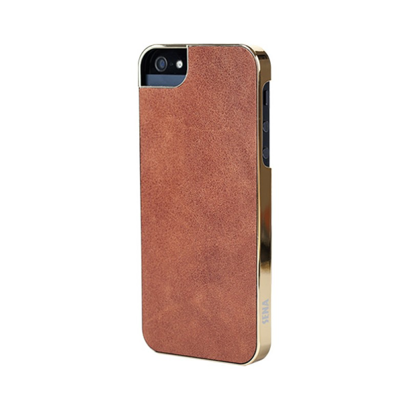 Sena Ultra Thin Snap On iPhone 5/5S Caramel/gold