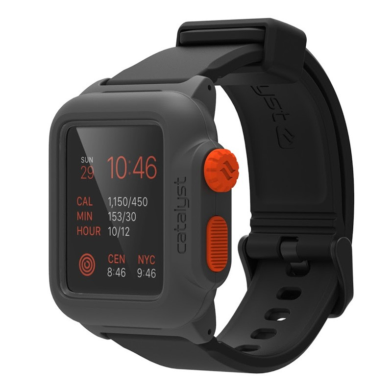 Catalyst Waterproof Case Apple Watch 42mm Black/Orange - 1
