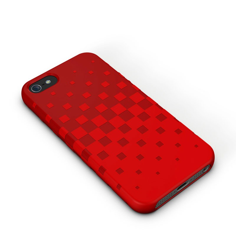 XtremeMac - Tuffwrap iPhone 5 (Red) 01