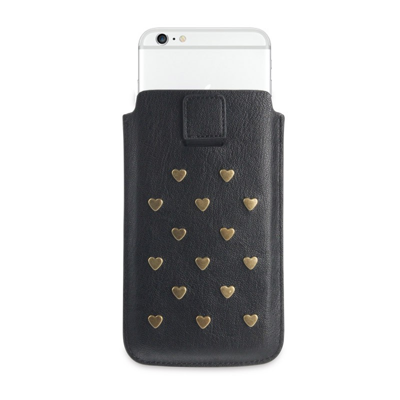 Fab. Pouch Studs Heart iPhone 6 Black - 2