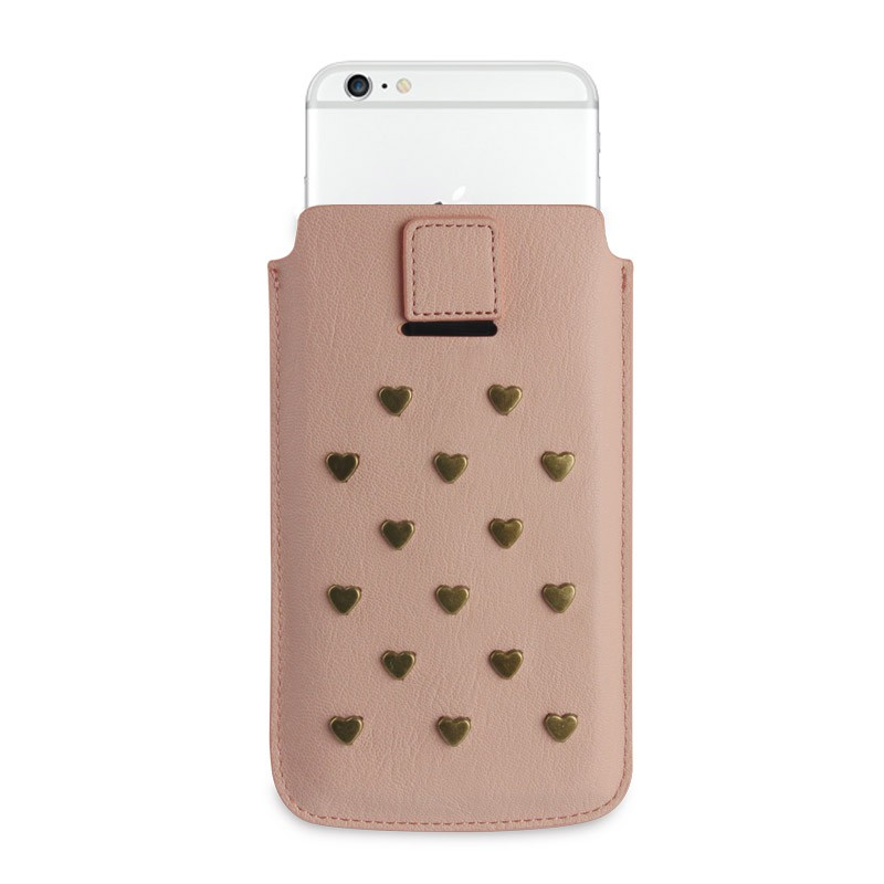Fab. Pouch Studs Heart iPhone 6 Salmon - 2