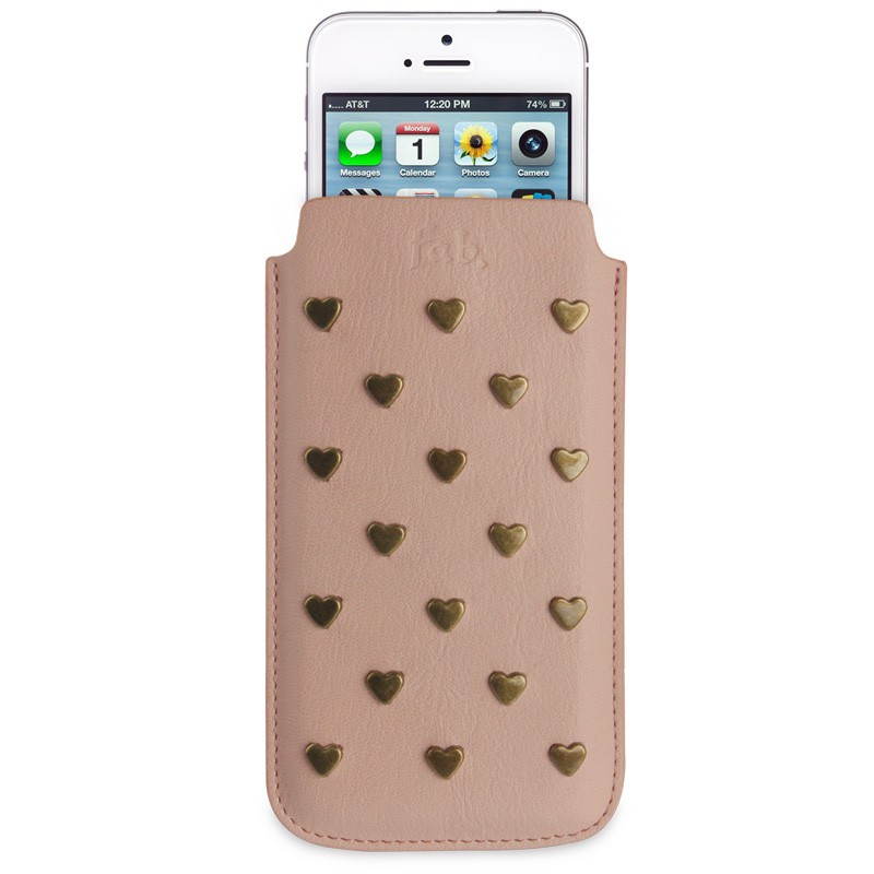 Fab. iPhone 5/5S Pouch Studs Salmon - 1