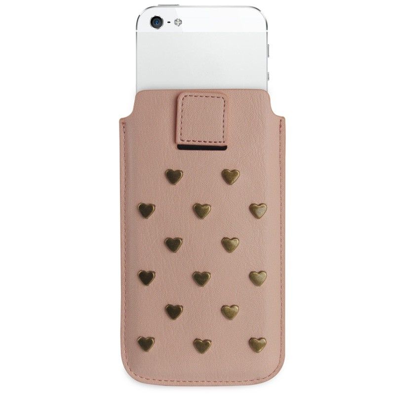 Fab. iPhone 5/5S Pouch Studs Salmon - 2