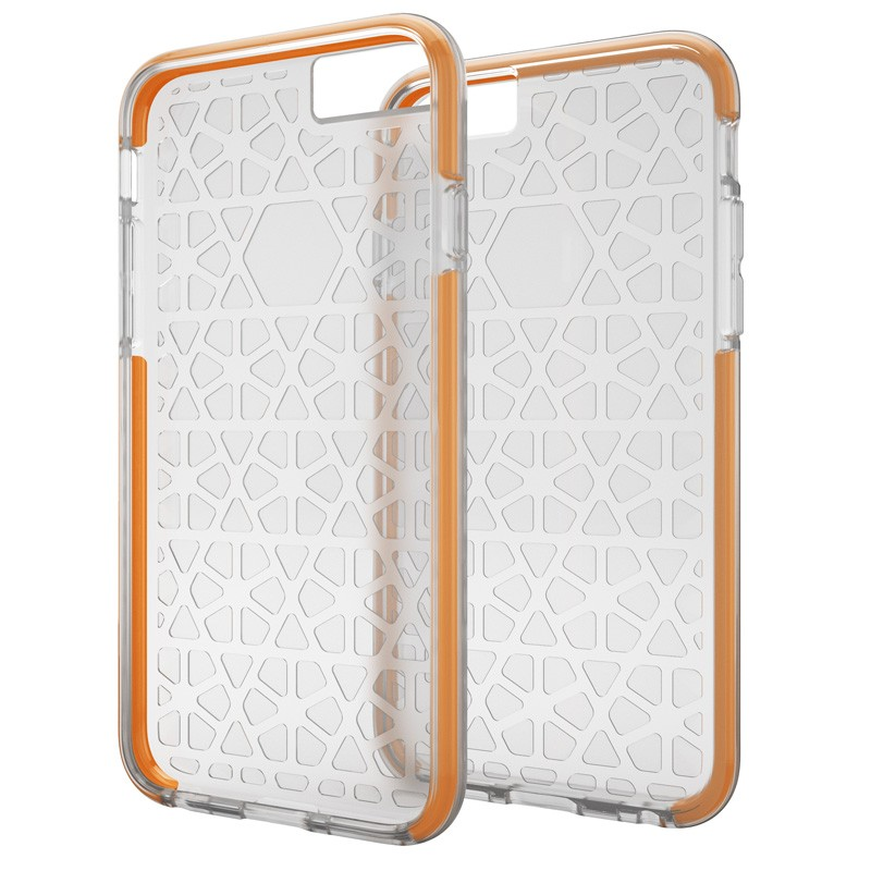 Gear4 3DO JumpSuit iPhone 6 / 6S Clear/Orange - 1