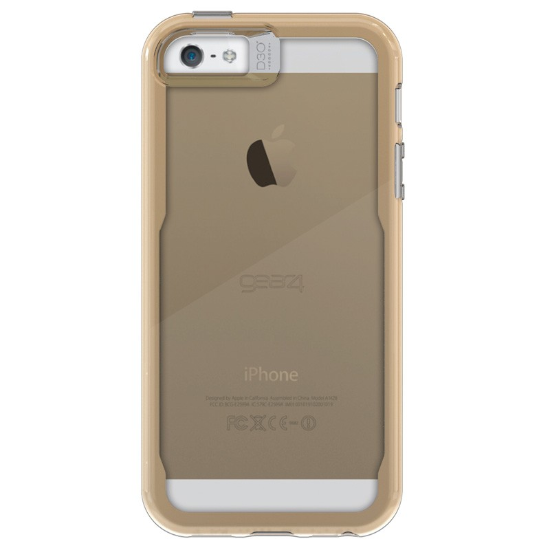 Gear4 3DO JumpSuit Tone iPhone SE/5S/5 Gold/Clear - 3