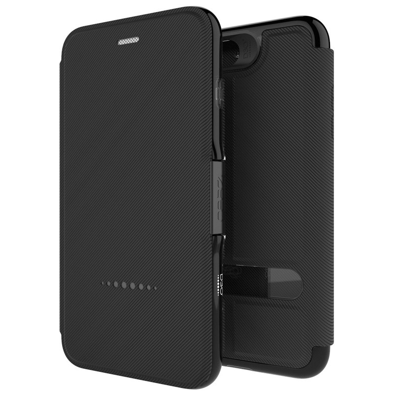Gear4 Oxford Book Case iPhone 7 Black - 1