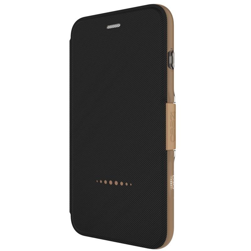 Gear4 Oxford Book Case iPhone 7 Black/Gold - 2
