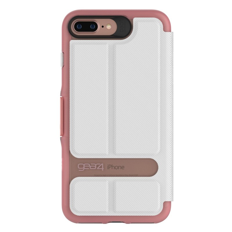 Gear4 Oxford Book Case iPhone 7 White/Pink - 3