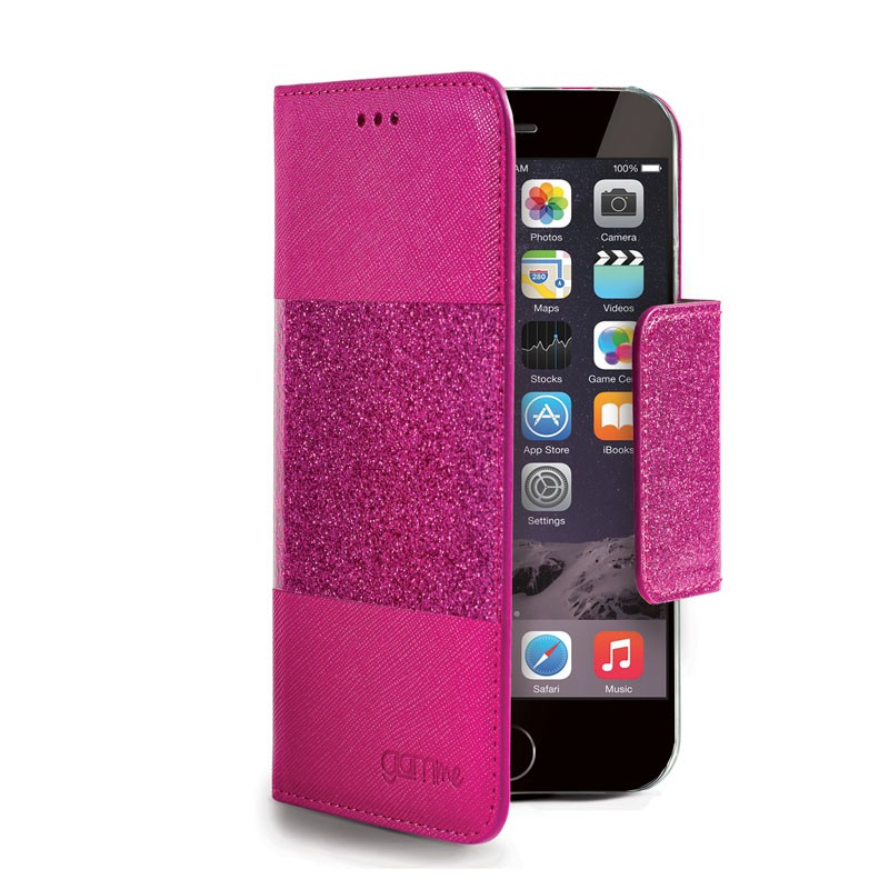 Celly Glitter Agenda iPhone 6 Fuchsia - 1