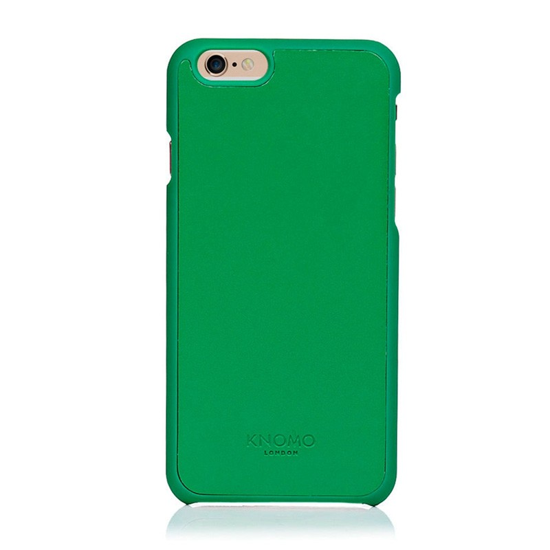 Knomo Leather Snap On iPhone 6 Green - 1