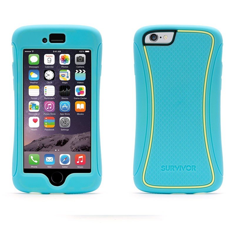 Griffin Survivor Slim iPhone 6 Turqoise/Yellow - 3