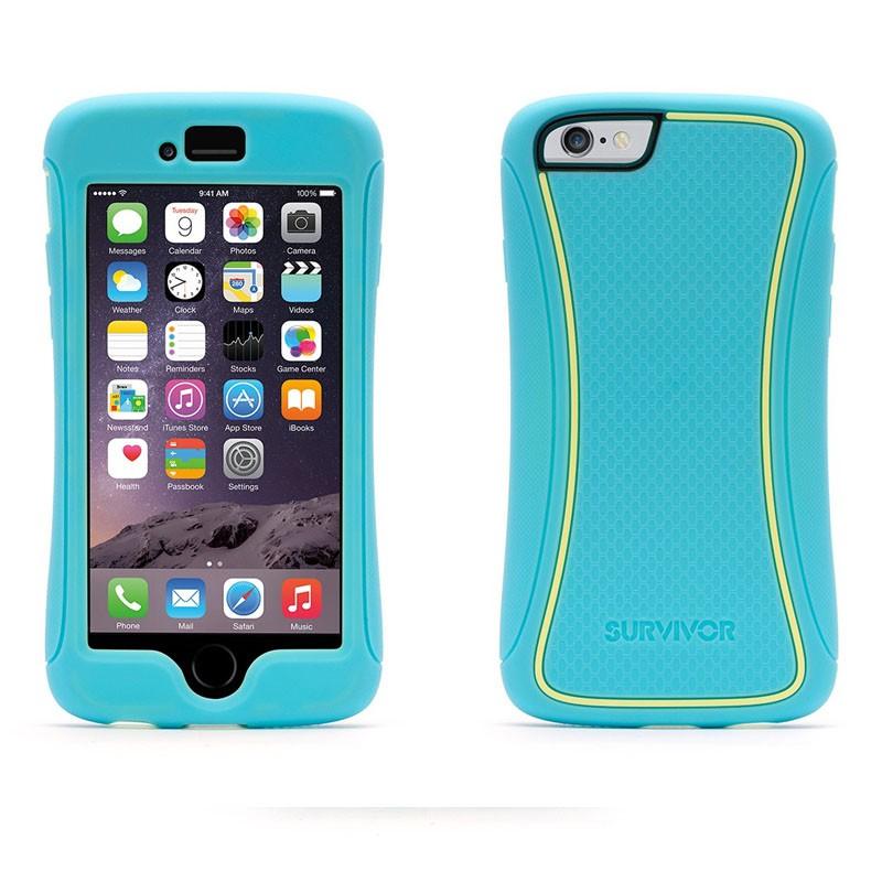Griffin Survivor Slim iPhone 6 Turqoise/Yellow - 3