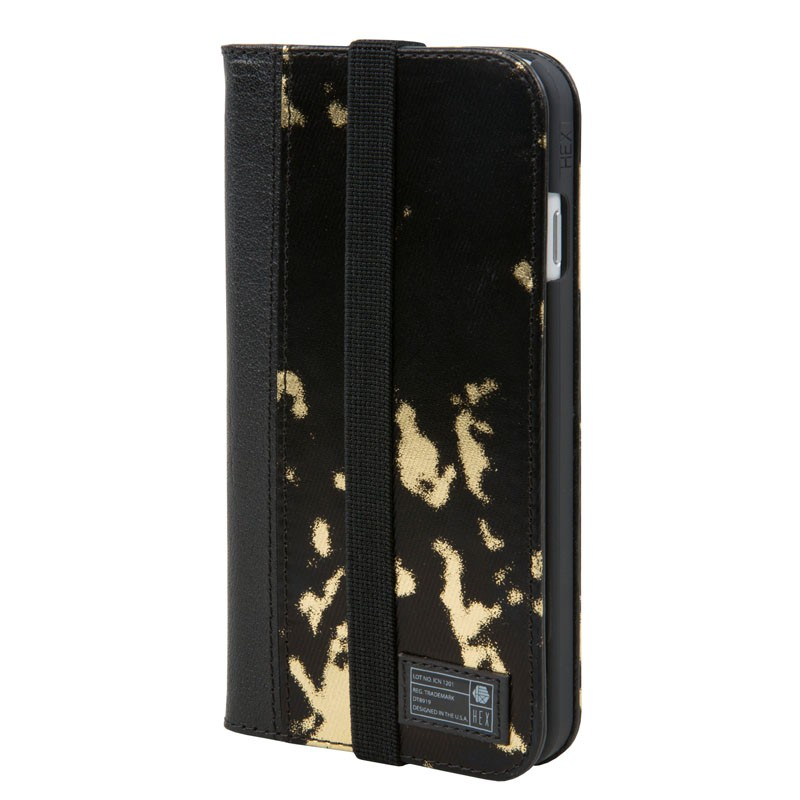 Hex Icon Wallet iPhone 7 Black/Gold - 1