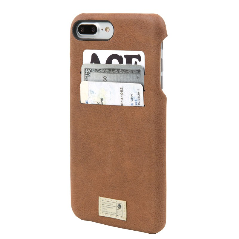 Hex Solo Wallet iPhone 7 Plus Hoesje Brown - 1