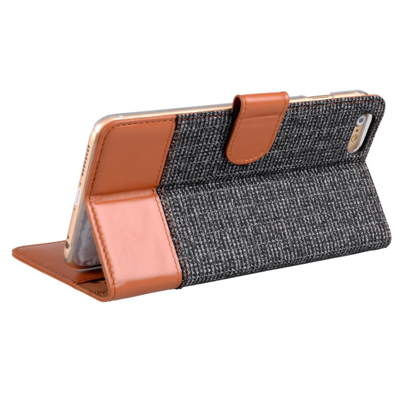 Melkco Holmes Wallet Case iPhone 6/6S Grey/Brown - 5