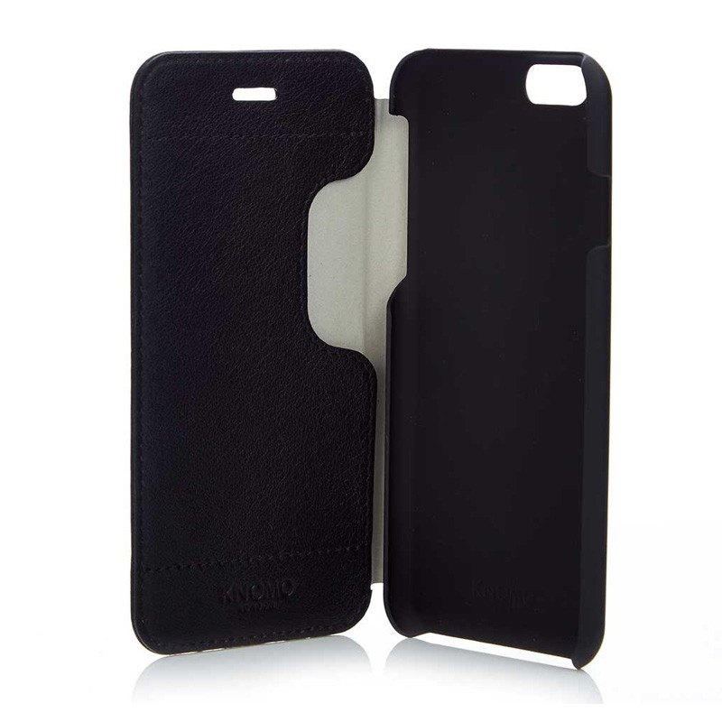 Knomo Leather Folio iPhone 6 Plus Black - 2