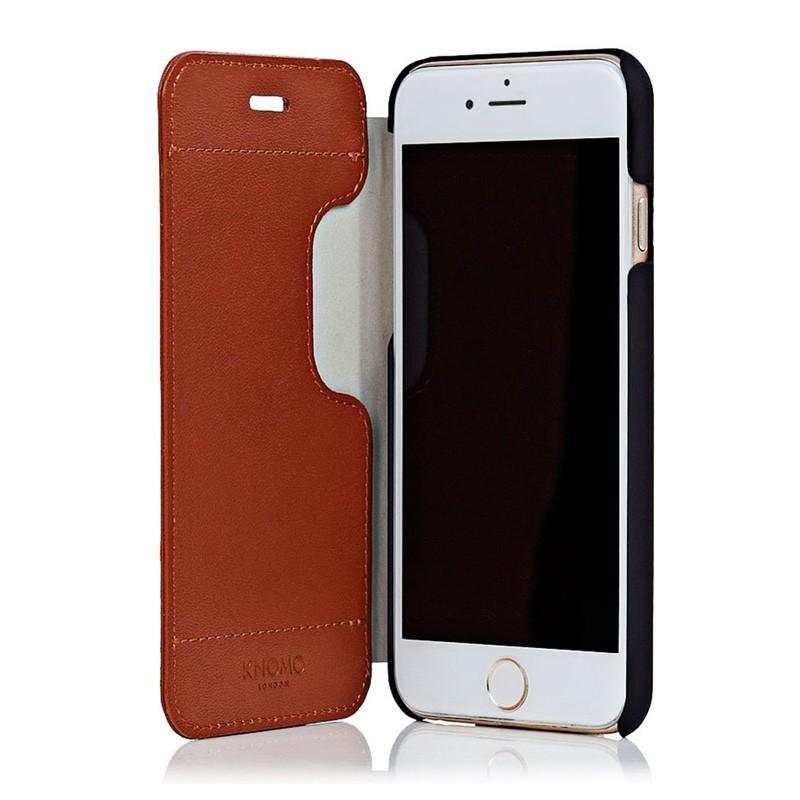 Knomo Leather Folio iPhone 6 Plus Brown - 1