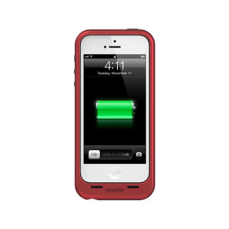 mophie juice pack plus iphone 5 (RED) - 4