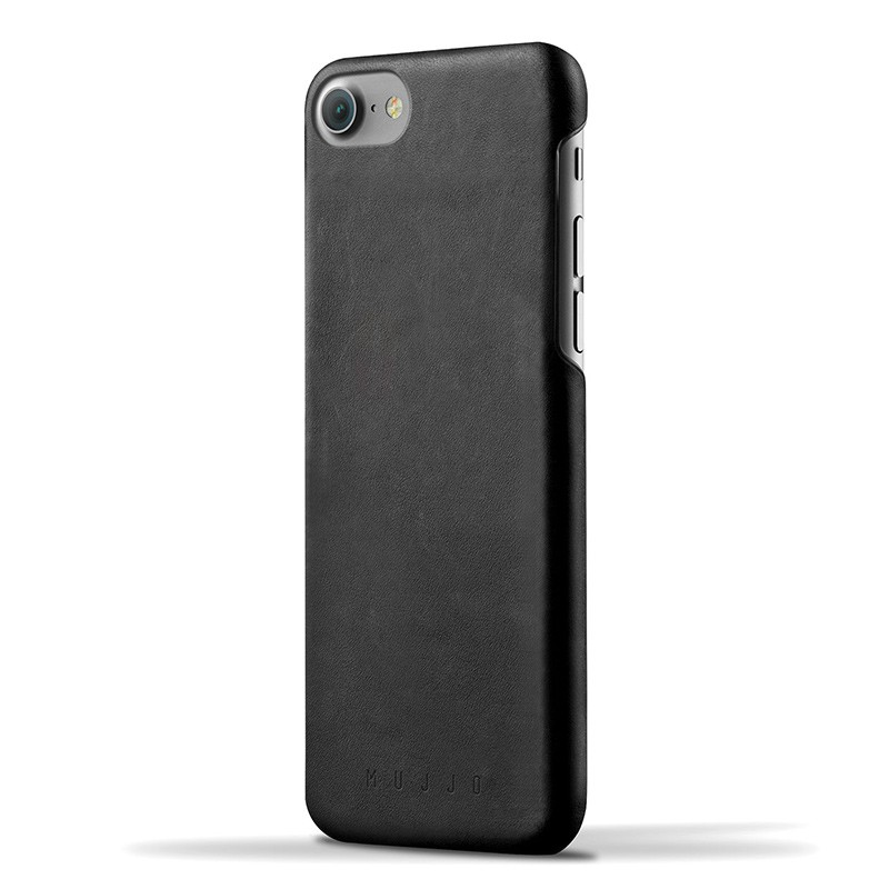 Mujjo Leather Case iPhone 7 Black 01
