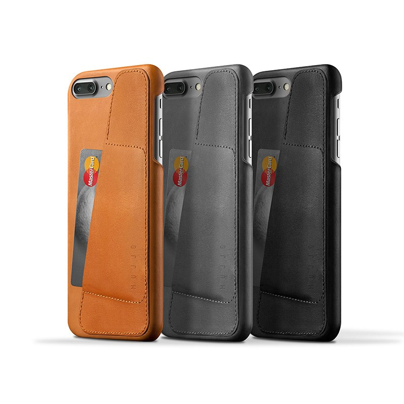 Mujjo Leather Wallet Case iPhone 7 Plus Grey 03