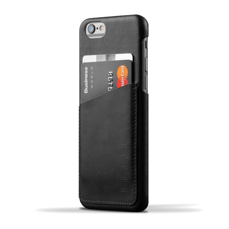 Mujjo Leather Wallet Case iPhone 6 Black - 1