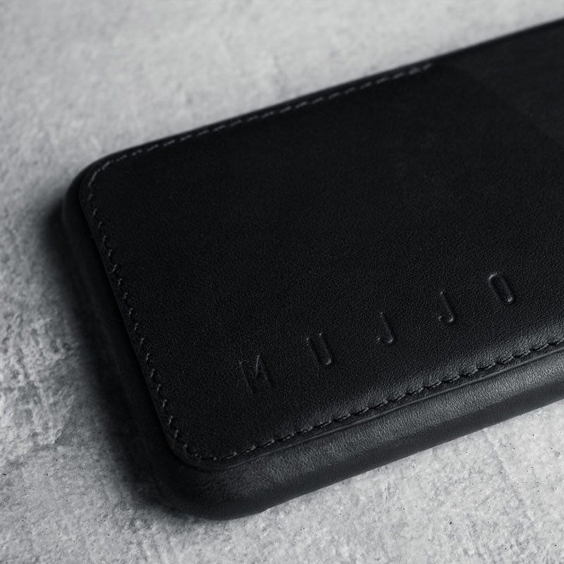 Mujjo Leather Wallet Case iPhone 6 Black - 5