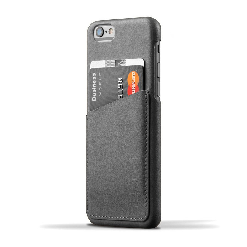 Mujjo Leather Wallet Case iPhone 6 Grey - 1