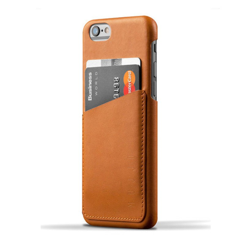 Mujjo Leather Wallet Case iPhone 6 Tan - 1