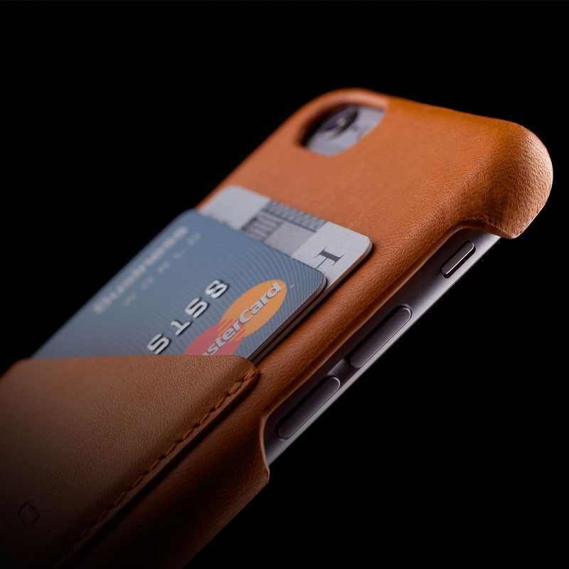 Mujjo Leather Wallet Case iPhone 6 Tan - 4