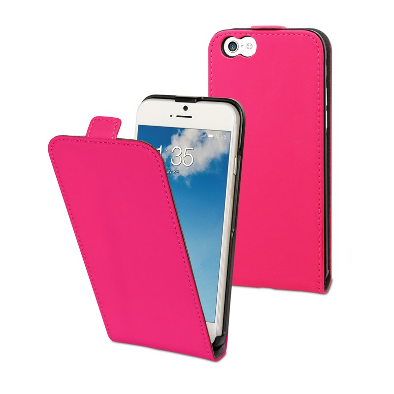 Muvit Slim Flip Case iPhone 6 Plus Pink - 1