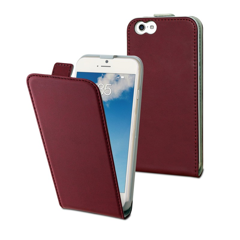 Muvit Slim Flip Case iPhone 6 Red - 1