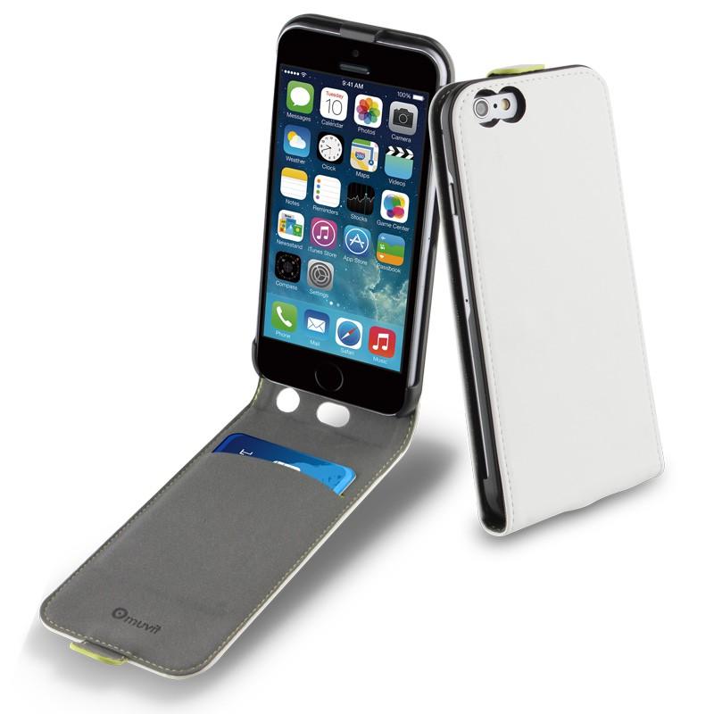 Muvit Slim Flip Case iPhone 6 White - 3