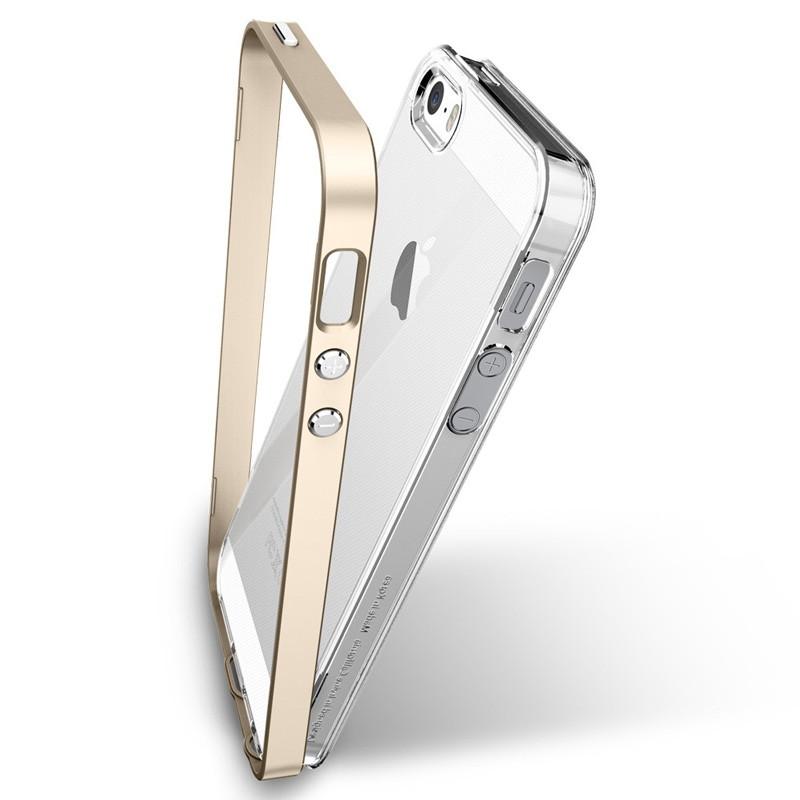 Spigen Neo Hybrid Crystal iPhone SE / 5S / 5 Champagne Gold - 5